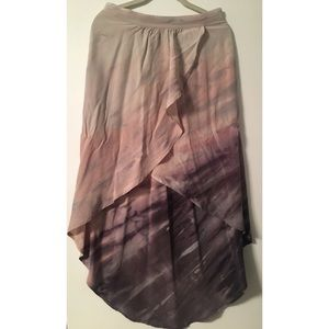 NWT Anthropologie High Low Skirt